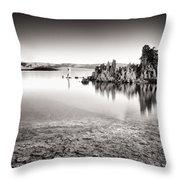 Monochrome Mono Lake Sunrise Throw Pillow by Tanya Harrison