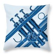Monochrome Trumpet Throw Pillow
