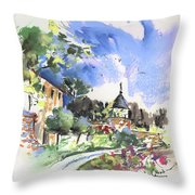 Monpazier In France 01 Throw Pillow
