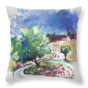 Monpazier In France 04 Throw Pillow