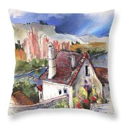 Monpazier In France 05 Throw Pillow