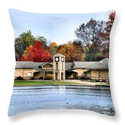 Monroe Falls Park Throw Pillow