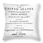 Monroe: Title Page, 1798 Throw Pillow by Granger