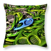 Monster Can Tabs Detroit Mi Throw Pillow