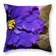 Monster Violet Throw Pillow