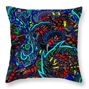 Monster Wave Throw Pillow