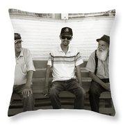 Montana Bench Boys Part II Throw Pillow