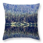Montana Lake Reflection Throw Pillow