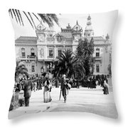 Monte Carlo - Casino - C 1898 Throw Pillow