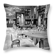 Monte Carlo - Gambling Hall - C 1900 Throw Pillow