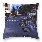 Monte Carlo Casino Corner Throw Pillow