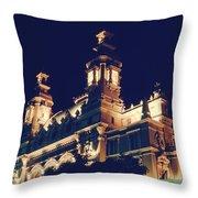 Monte Carlo Casino's Ocean View Throw Pillow