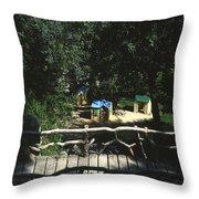 Monte Carlo Playground Throw Pillow