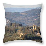 Montegufoni Castle Throw Pillow