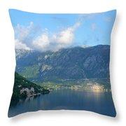 Montenegro's Bay Of Kotor Throw Pillow