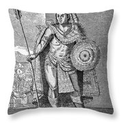 Montezuma II (c1480-1520) Throw Pillow