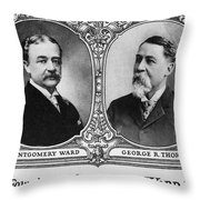 Montgomery Ward Founders Throw Pillow