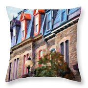 Montreal Architecture Throw Pillow