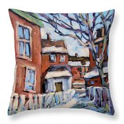 Montreal Scene 03 By Prankearts Throw Pillow