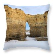 Monument Rocks Arch Throw Pillow