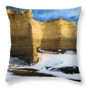 Monument Rocks Castle Throw Pillow