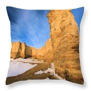 Monument Rocks In Kansas Throw Pillow