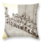 Monument To Discoveries Throw Pillow