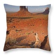 Monument Valley, Kayenta, Arizona, Usa Throw Pillow