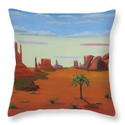 Monument Valley Lone Tree Throw Pillow