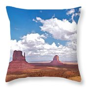 Monument Valley Pano Throw Pillow