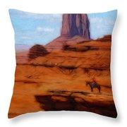 Monument Valley Pastel Throw Pillow