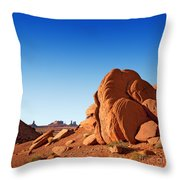 Monument Valley Rocks Throw Pillow