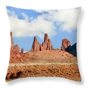 Monument Valley Totem Pole Throw Pillow