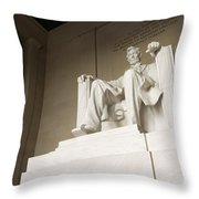 Monumental Statue Of Abraham Lincoln Throw Pillow