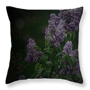 Mood Lilac Throw Pillow