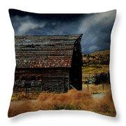Moody Moon Throw Pillow
