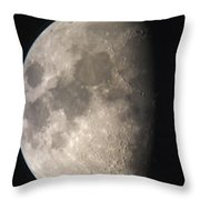 Moon Against The Black Sky Throw Pillow