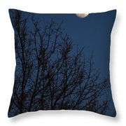 Moon And Trees Throw Pillow