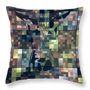 Moon Bath Geometric Splash Throw Pillow