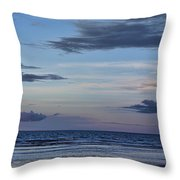 Moon Beach Throw Pillow