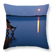 Moon Boots Throw Pillow