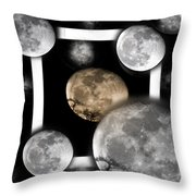 Moon From The Country Throw Pillow
