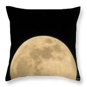 Moon Galaxy Saturn Throw Pillow
