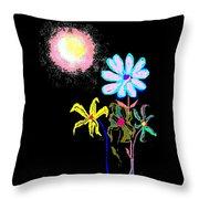 Moon Garden Throw Pillow