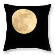 Moon In The Galaxy Mars Throw Pillow