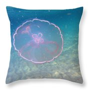 Moon Jelly Throw Pillow
