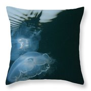 Moon Jelly Ripples Throw Pillow