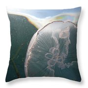 Moon Jelly Rise Throw Pillow