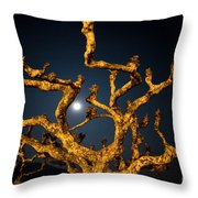 Moon Light And Tree Throw Pillow