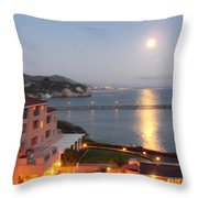 Moon Lights On The Water Throw Pillow